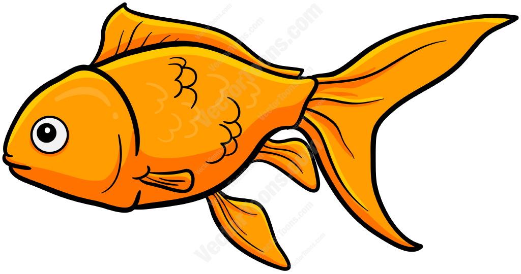 Simple Goldfish Clipart