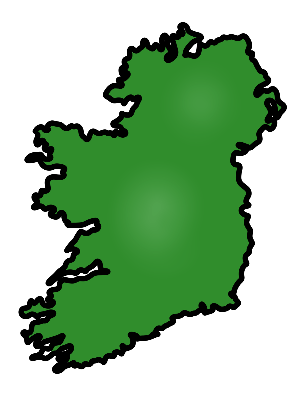 Simple Irish Map Free Cliparts That You Can Download To You Computer