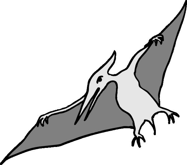 Simple Pterodactyl Art Clip Art At Clker Com Vector Clip Art Online
