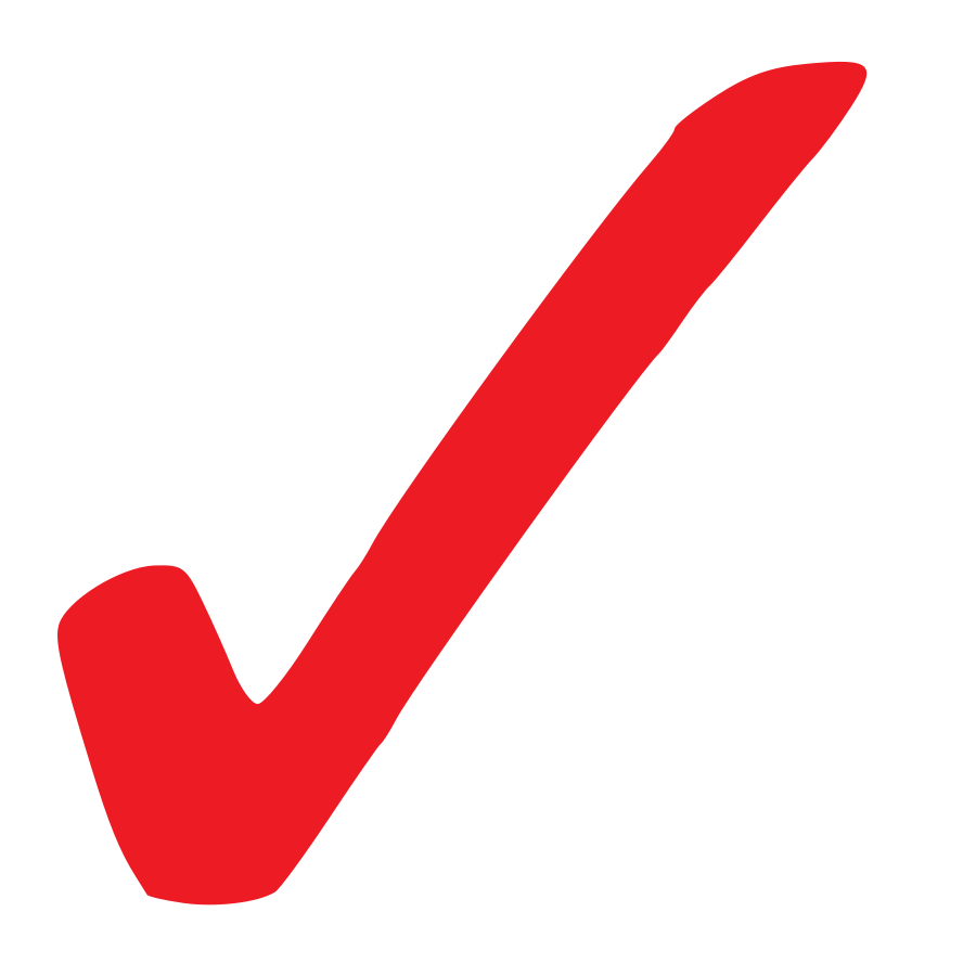 Simple Red Checkmark Clipart Large Size