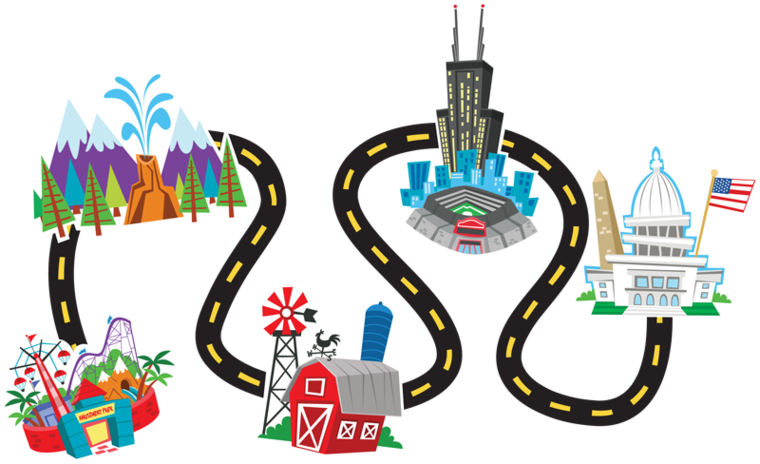 Simple Road Map Clipart
