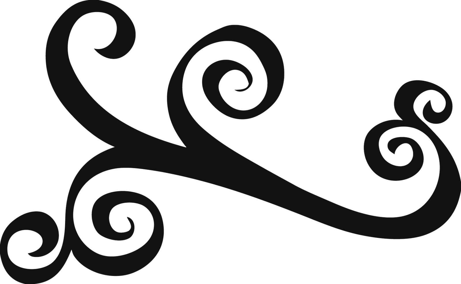 Simple swirls clipart free clipart images