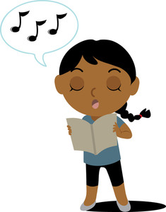 Singing Clipart Clip Art Illustration Of An Ethnic Girl Singing From A