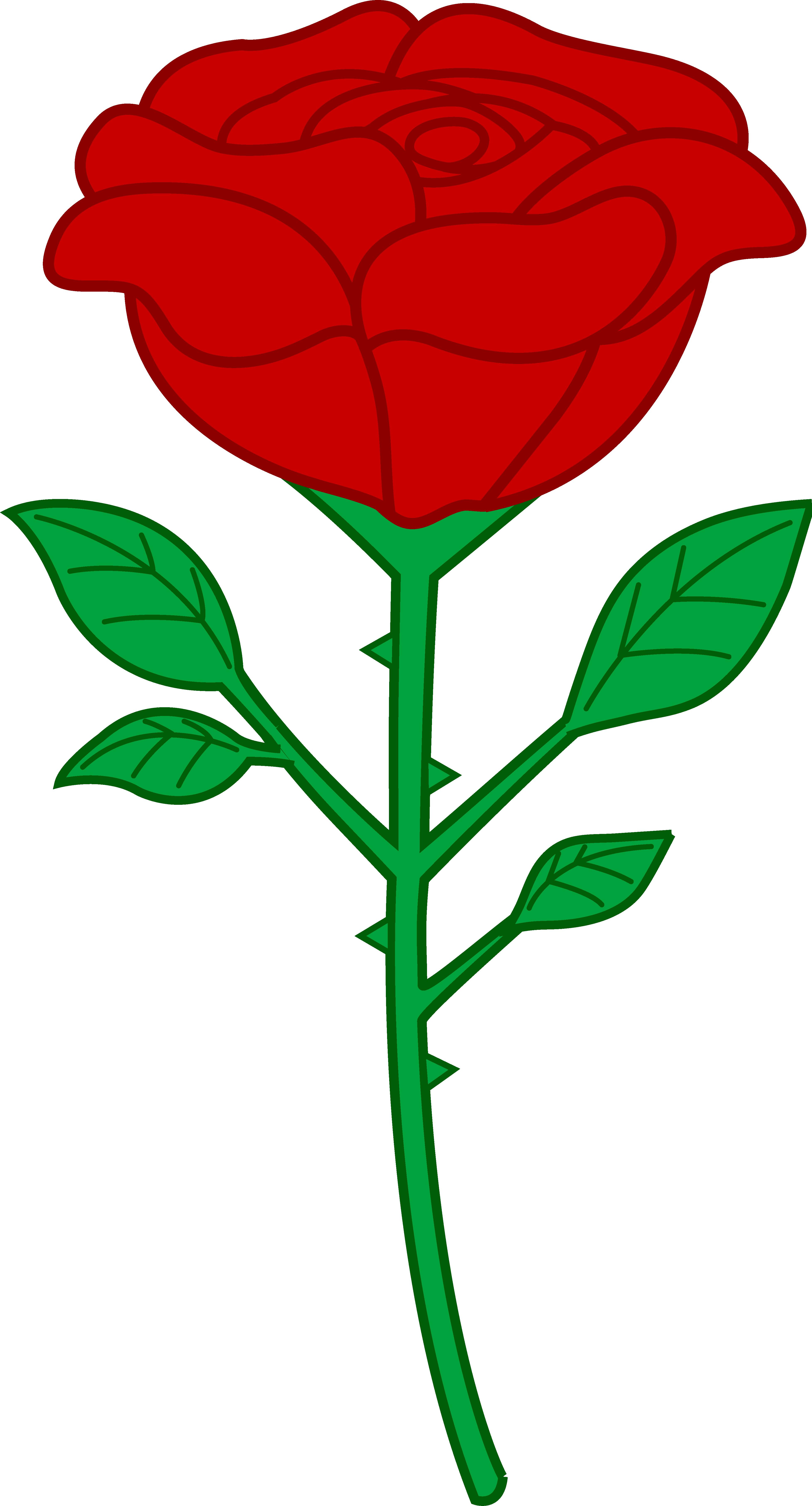 Single Red Rose Clip Art - Free Clip Art