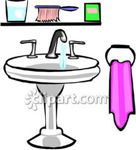 Bath Sink Clipart #1