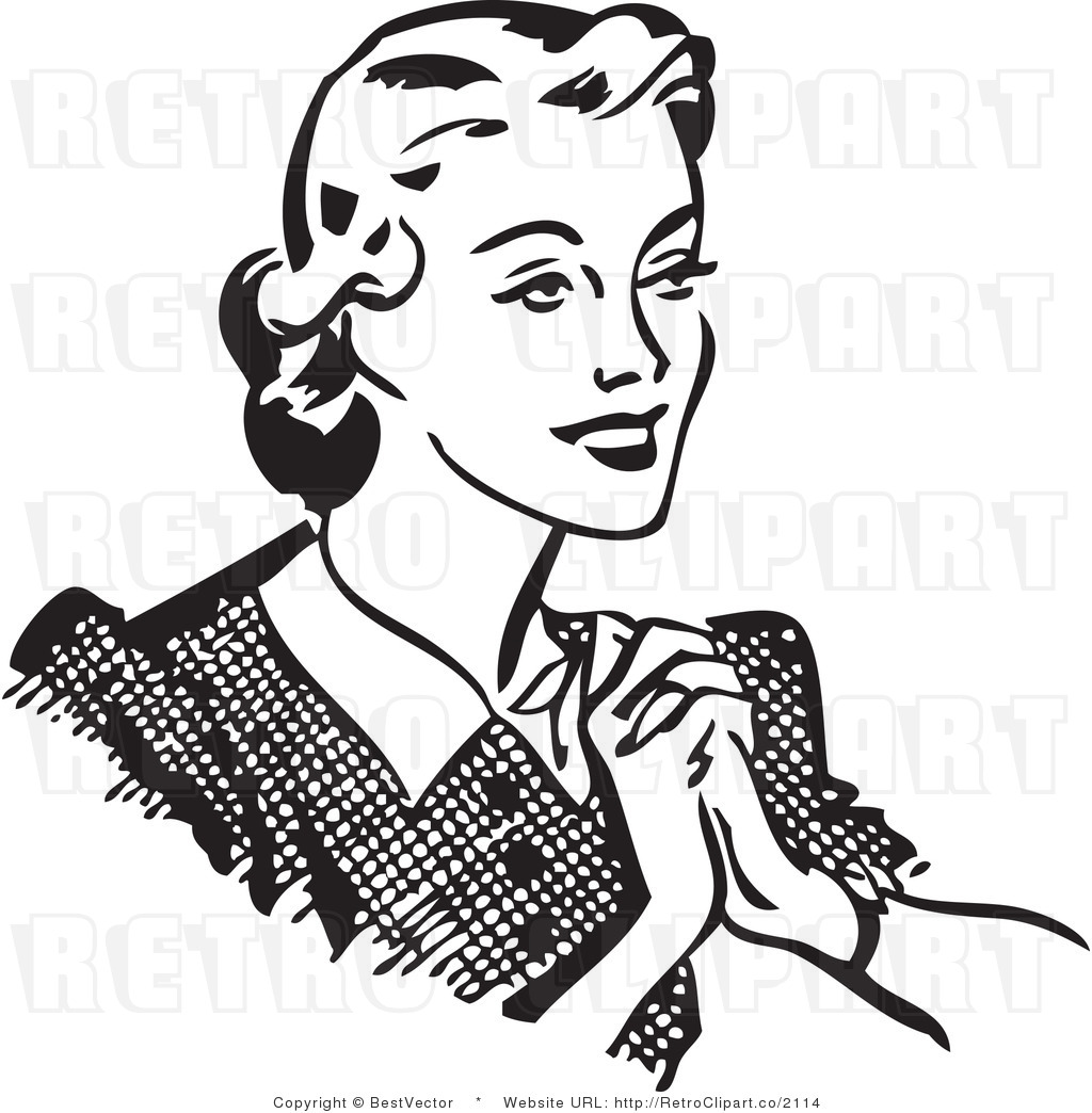 Sisters Clipart Black And .. - Happy Woman Clipart