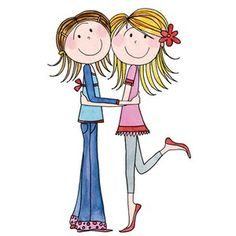 Sisters Sharing Clip Art More Cutest Clipart Sisters Friends Card