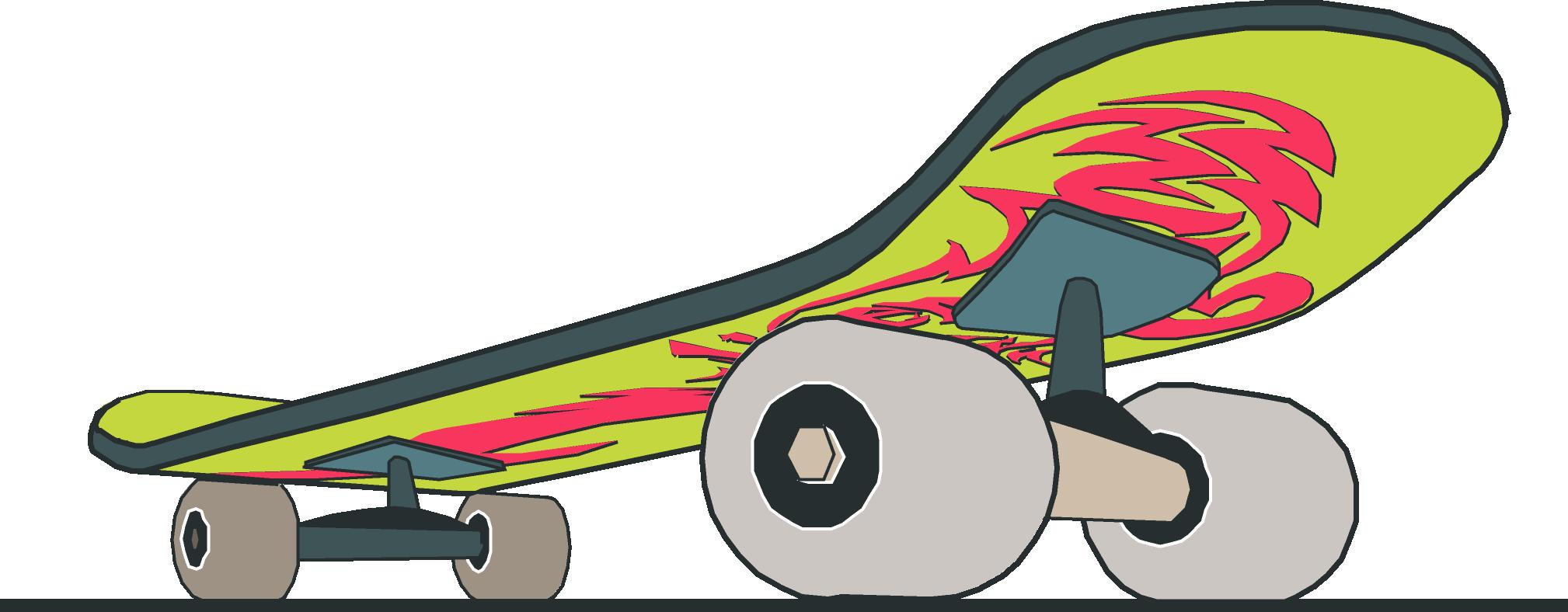 Skateboard clipart image