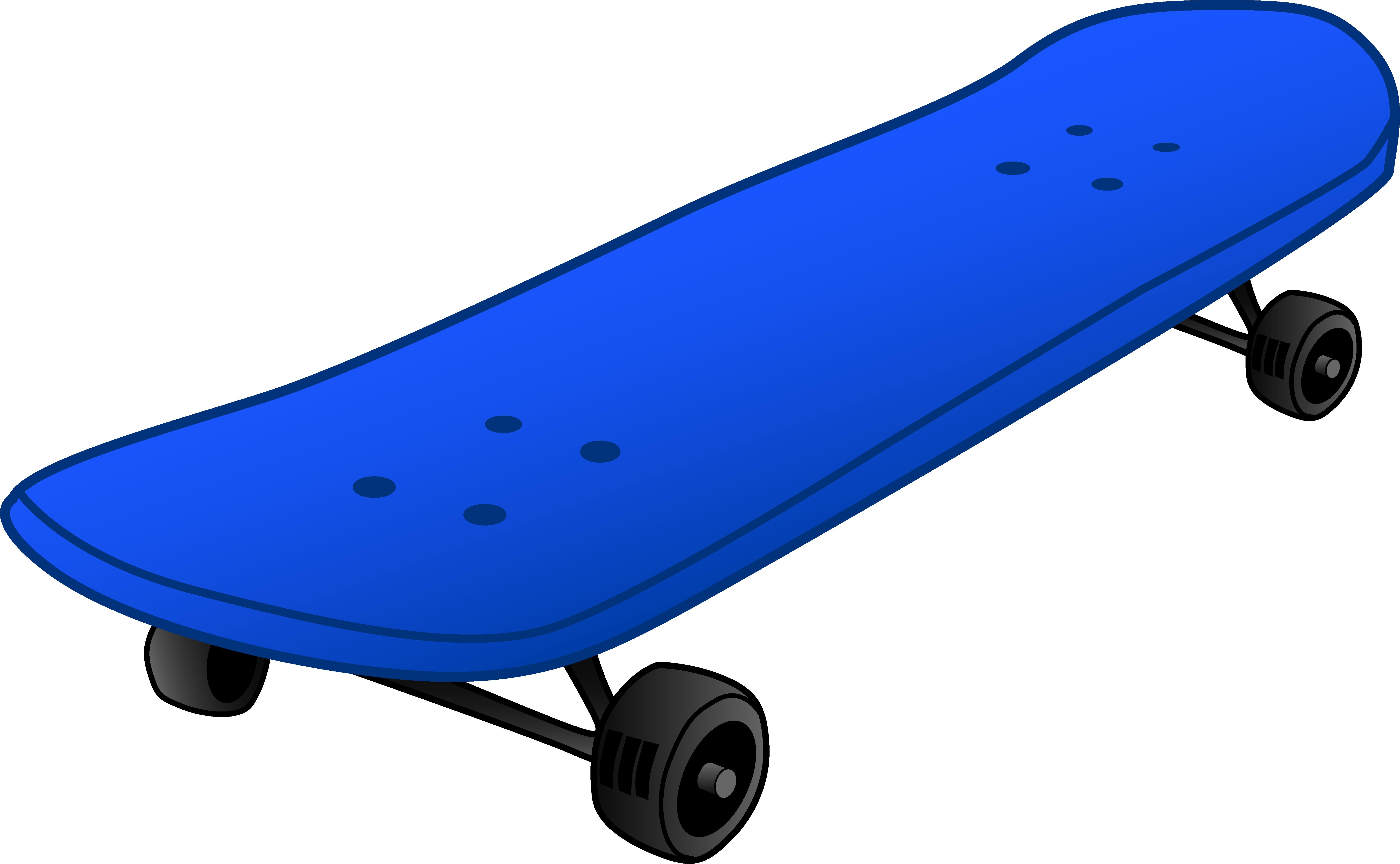 Skateboard Clipart #1