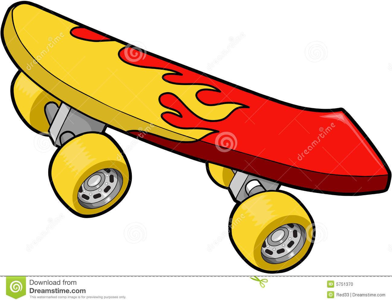 Skateboard clipart #3