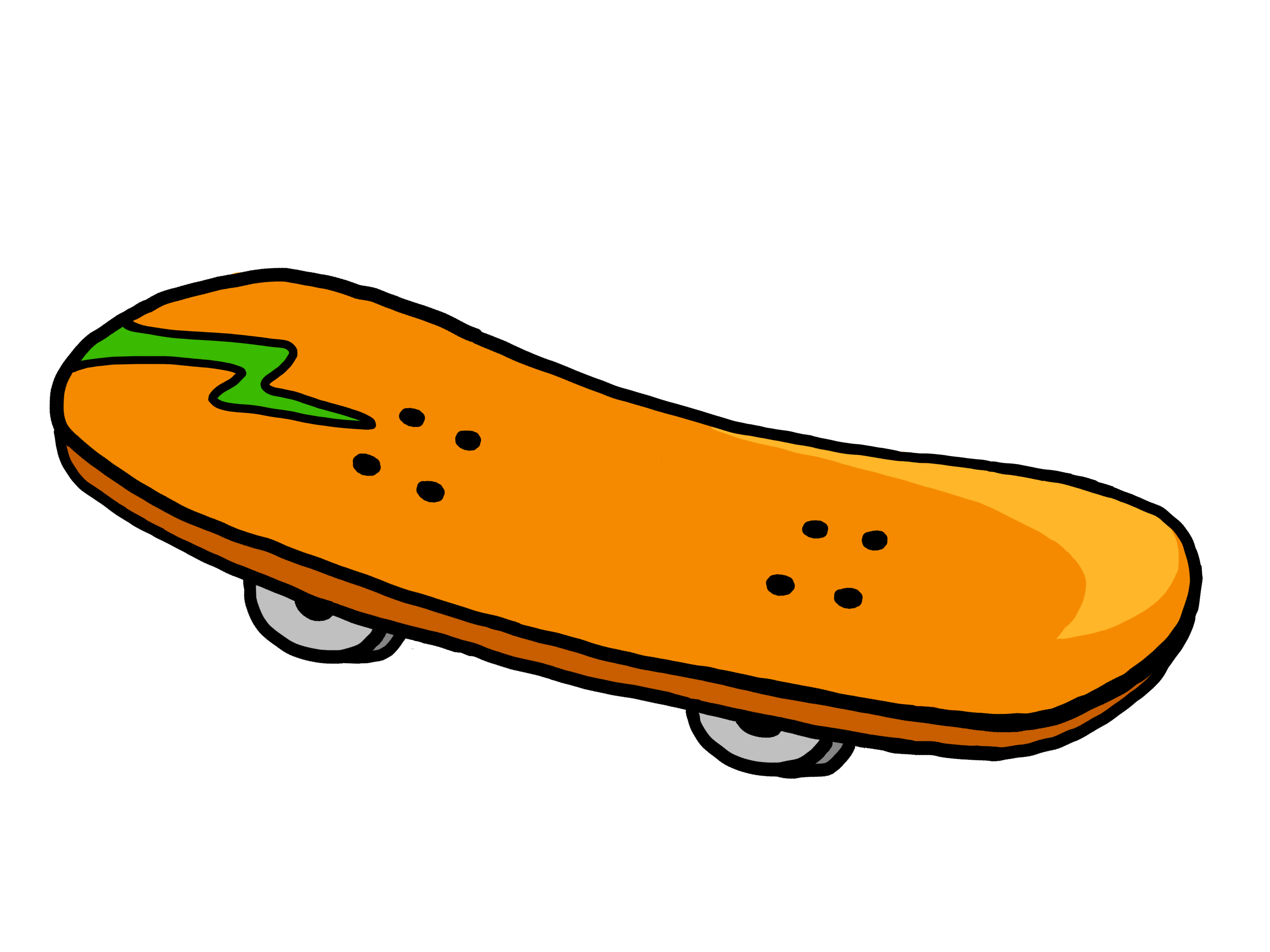 Skateboard Free Clipart #1