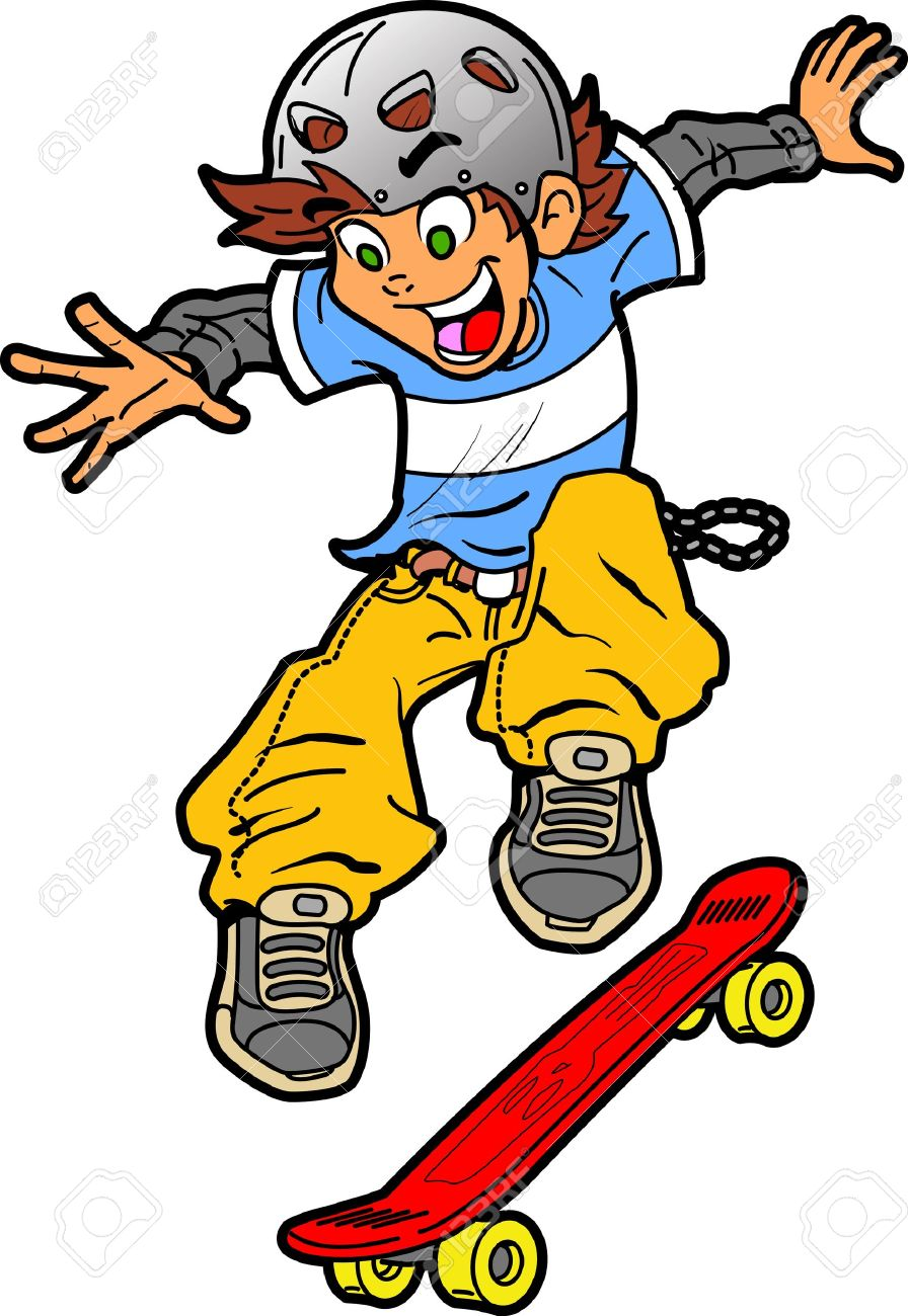 Yellow Clipart Skateboard #15