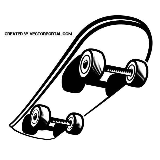 SKATEBOARD VECTOR CLIP ART