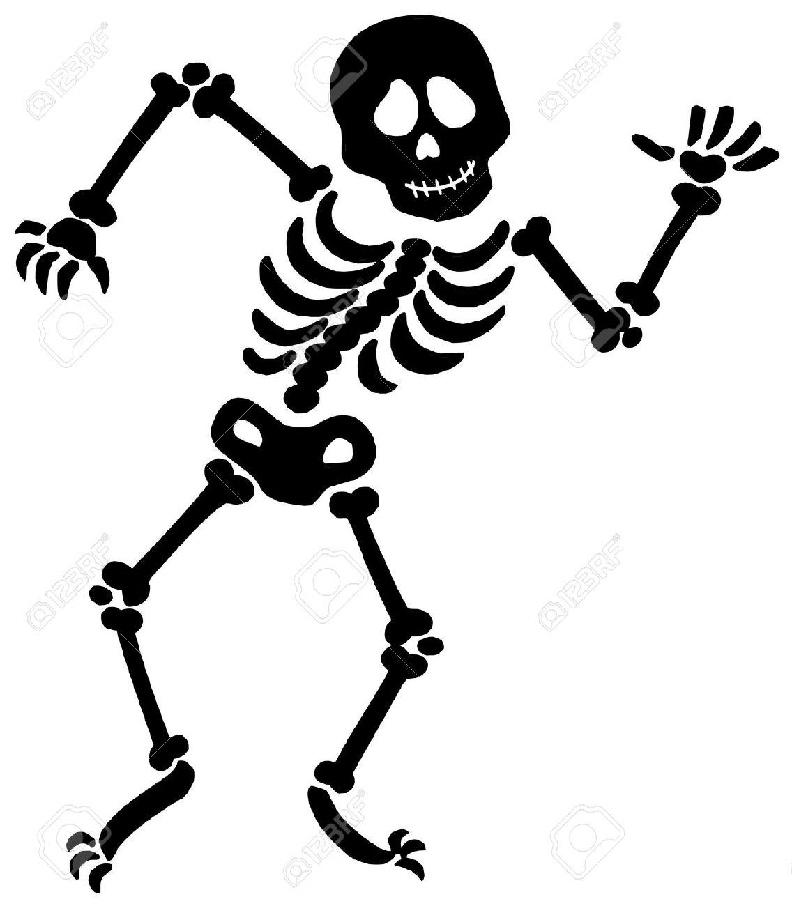 Skeleton Bones Clipart #1. Dancing skeleton silhouette .
