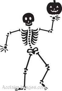 cartoon halloween skeleton clipart