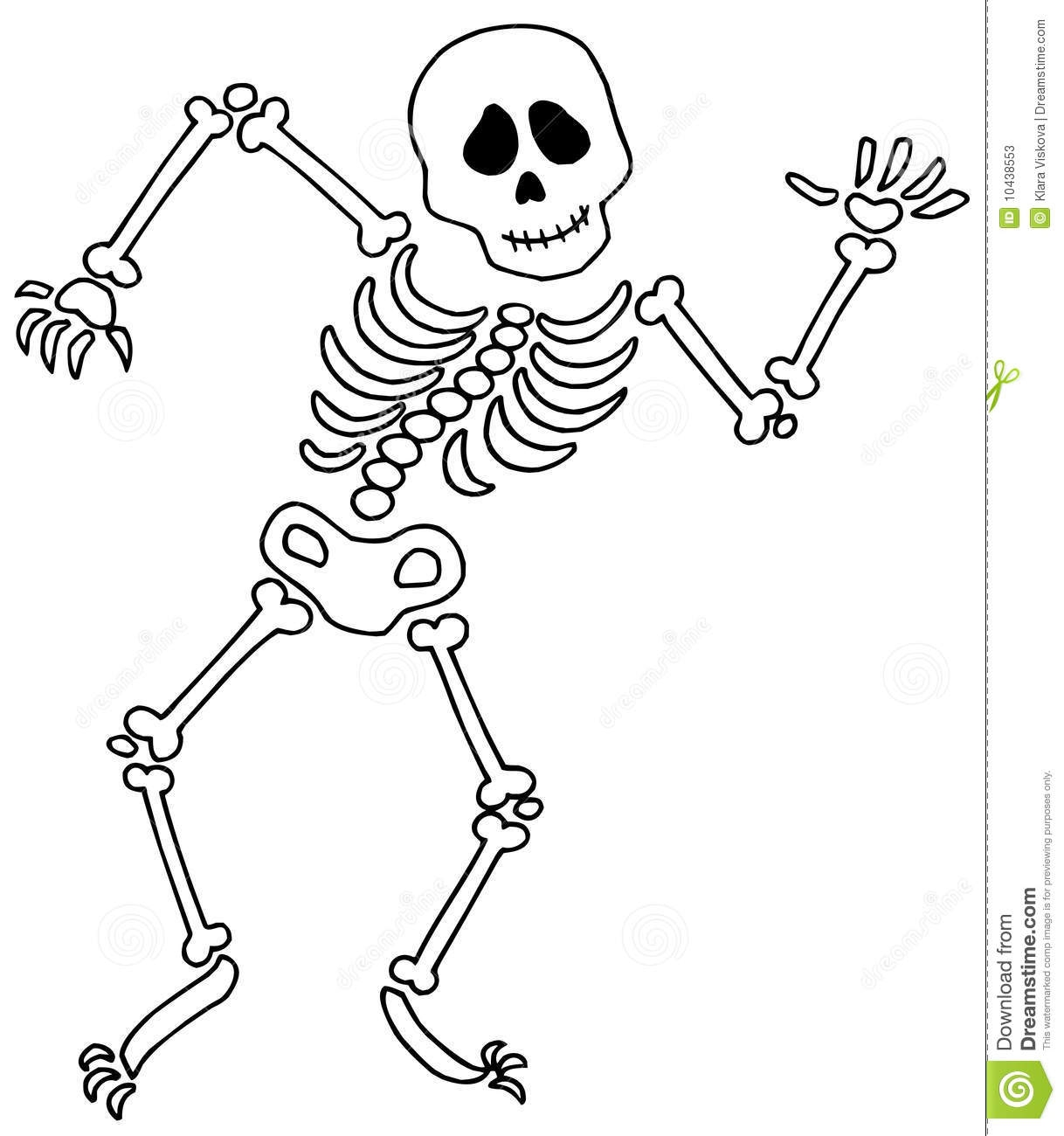 Cute Halloween Skeleton Clipa - Skeleton Clipart