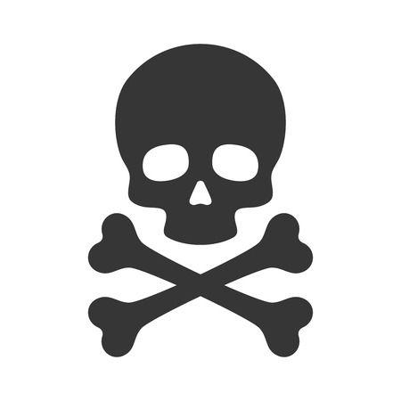 Skull and Crossbones Icon on  - Skull Clipart