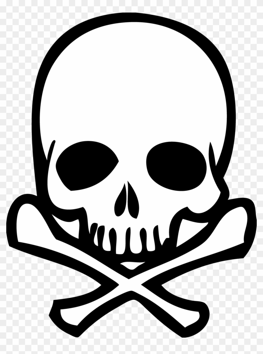 Skull Clipart Transparent Background - Skull And Crossbones Png
