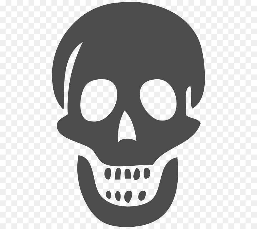 Skull Skeleton Clip art - Tra - Skull Clipart