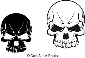 . hdclipartall.com Skulls tattoos - Danger evil skulls for tattoo or mascot.