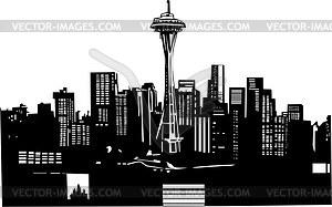 Skyline Von Seattle Klipart