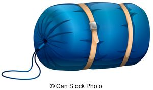 ... Sleeping bag - Blue sleeping bag with leather strapped Sleeping bag Clip Artby ...