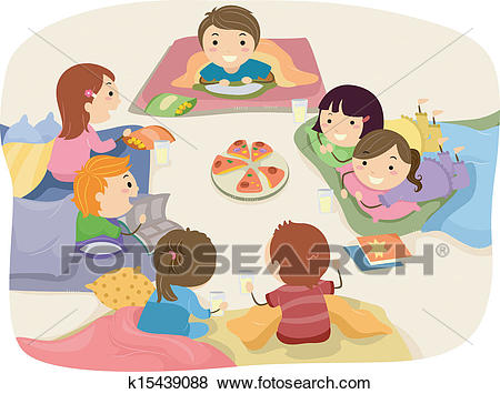 Clip Art - Sleepover. Fotosearch - Search Clipart, Illustration Posters,  Drawings, and