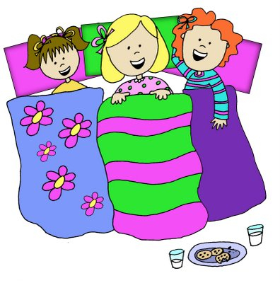 INVITATIONS FOR SLEEPOVER PAR - Sleepover Clipart