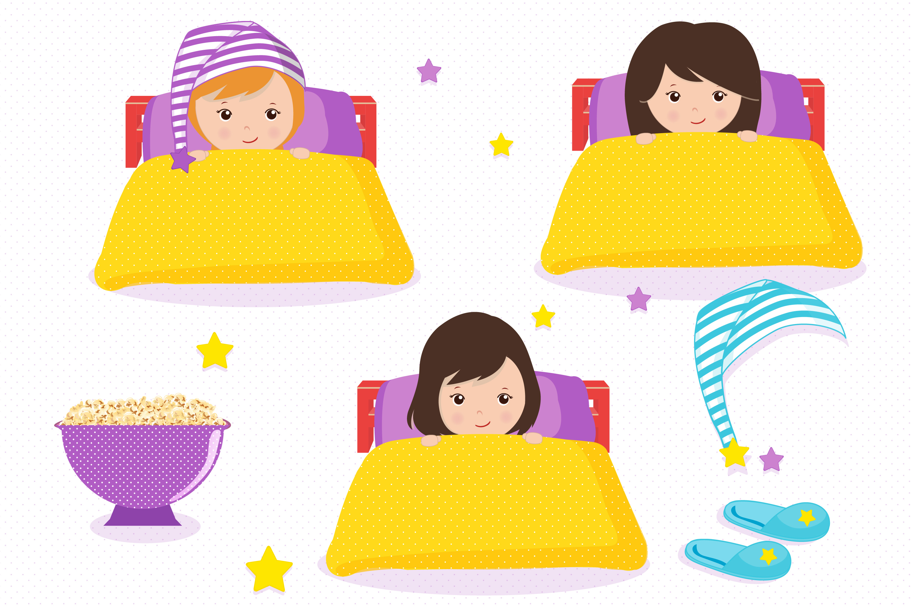 Sleepover graphics, Little gi - Sleepover Clipart