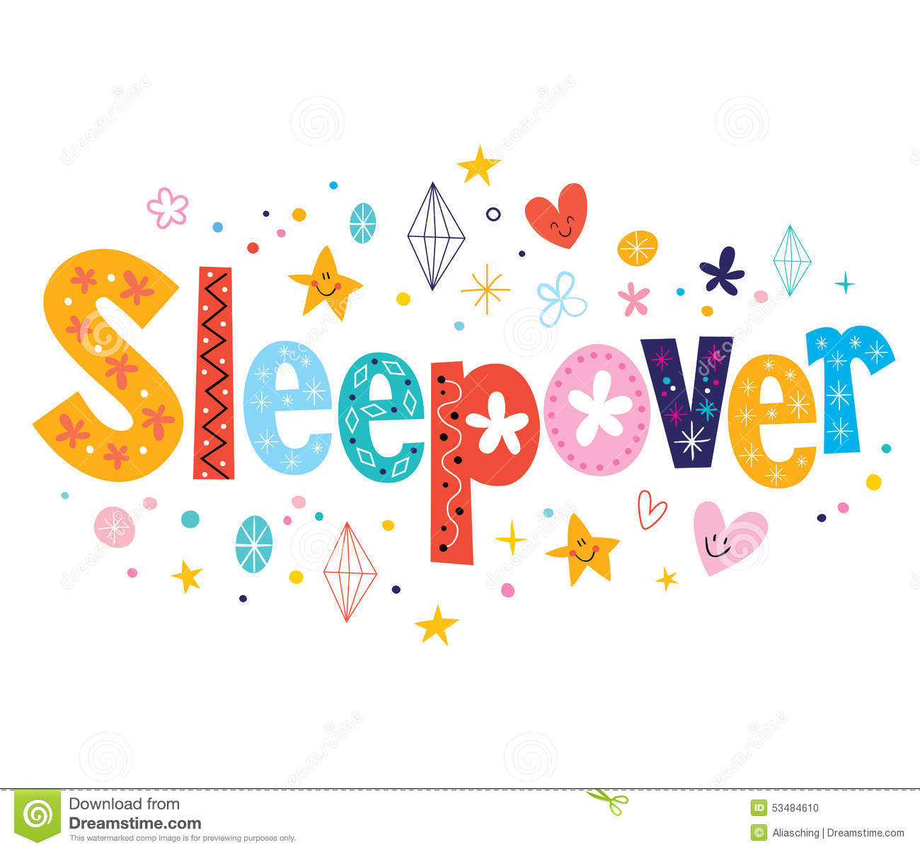 Sleepover Stock Photo