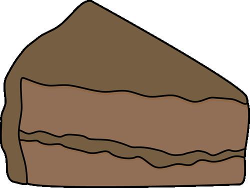Slice Of Chocolate Cake Clip Art Image Slice Of Chocolate Cake With