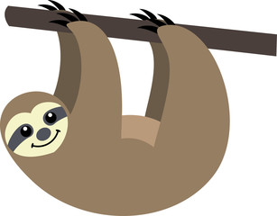 Sloth clipart funny cartoon #1