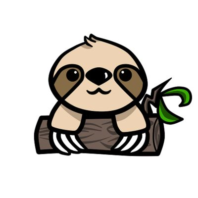 Sloth clipart illustration #8