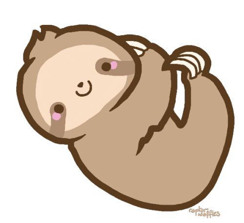 Transparent tumblr sloth transparent overlays clipart