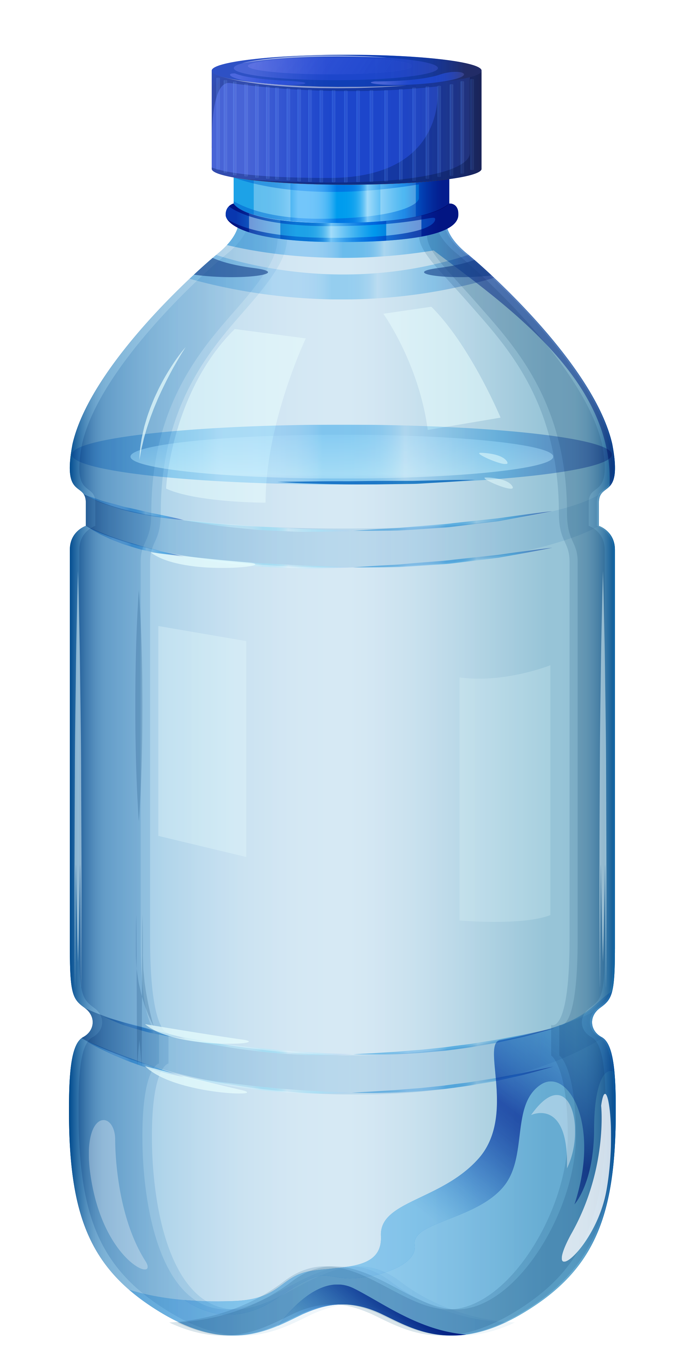 small bottle of mineral water .