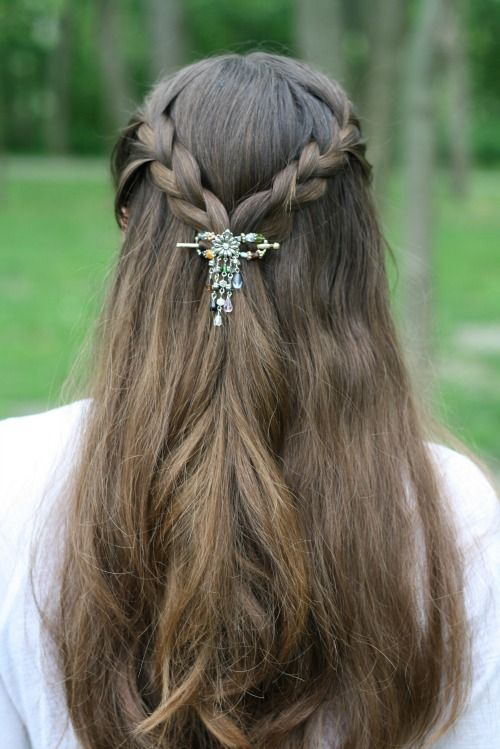 small braids with a flexi clip