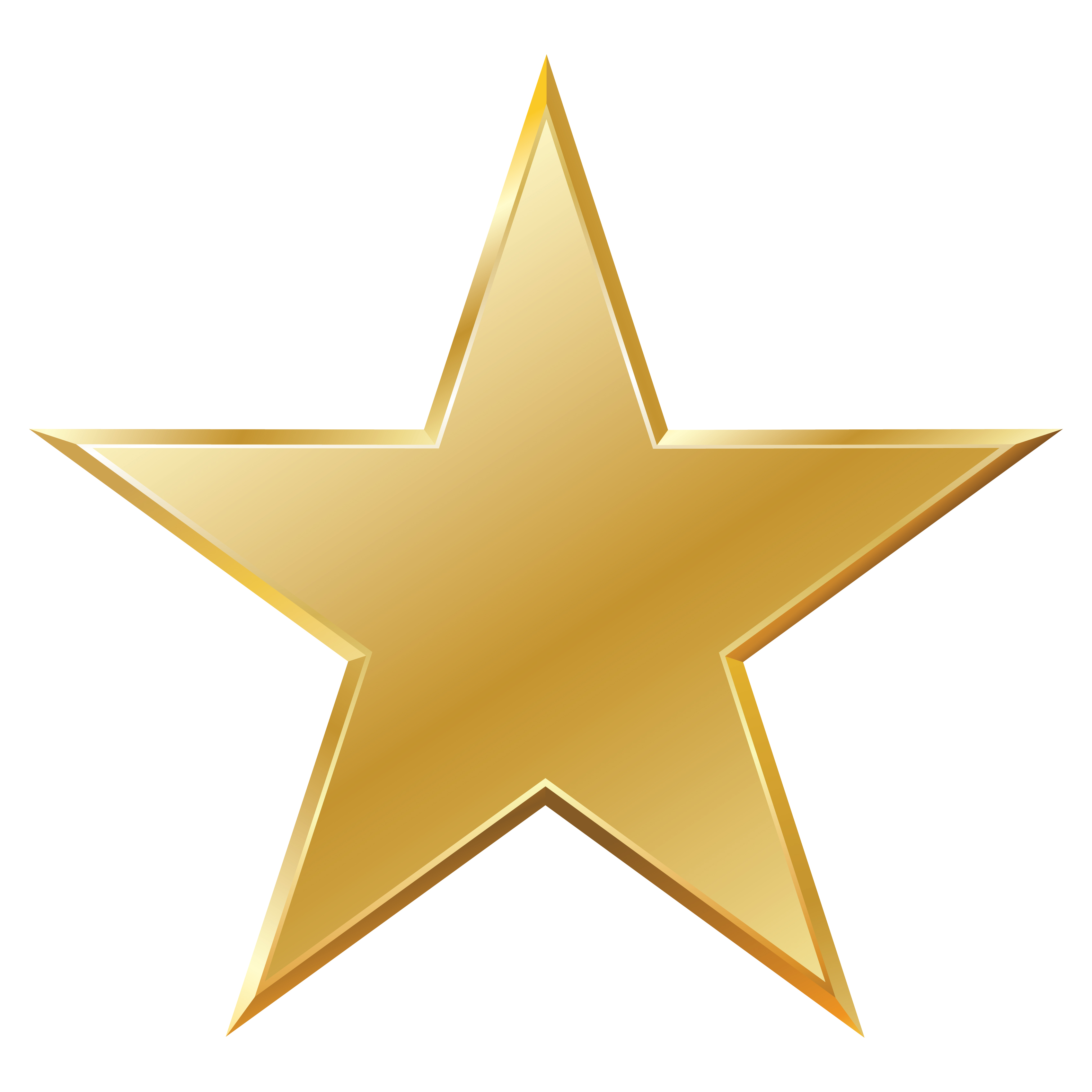 Small gold star clipart - .