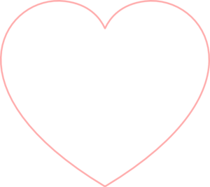 Small Heart Outline Clipart #1