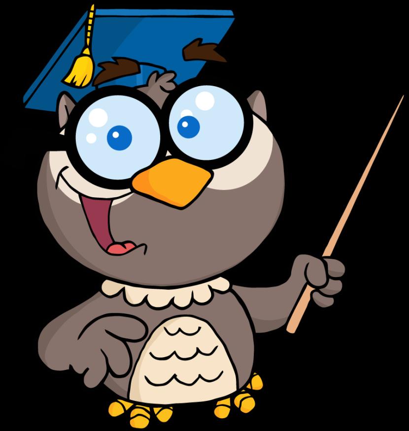 Smart owl clip art 2