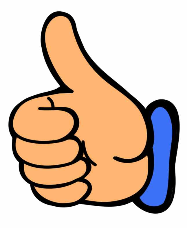 Smile thumbs up clip art clipart image 0