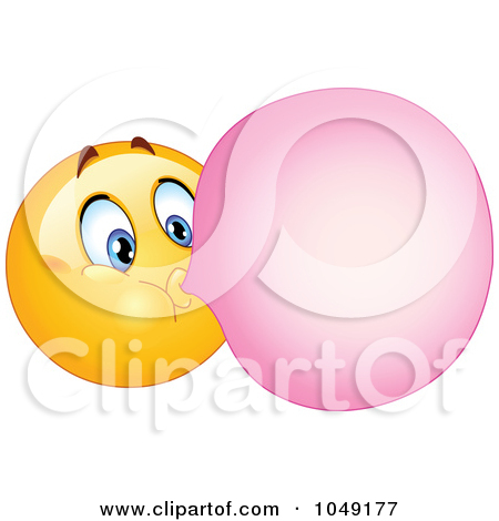 Smiley Emoticon Blowing Bubble Gum by yayayoyo