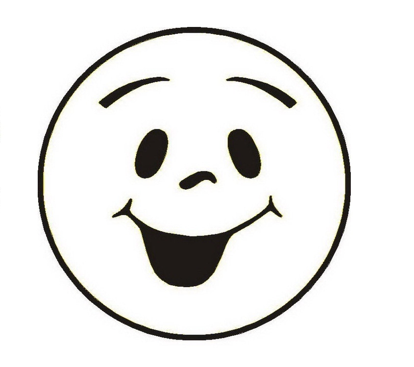 Black And White Smiley Face # - Smiley Face Clipart Black And White