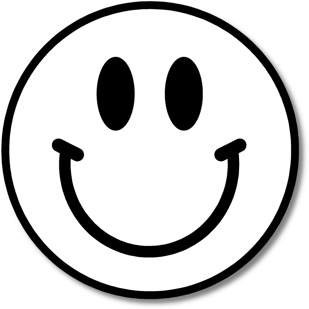 Black And White Smiley Face Pictures - Smiley Face Clip Art Black And White