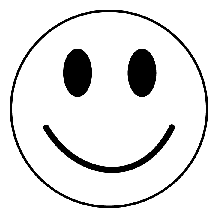 Smiley Face Clipart Black And
