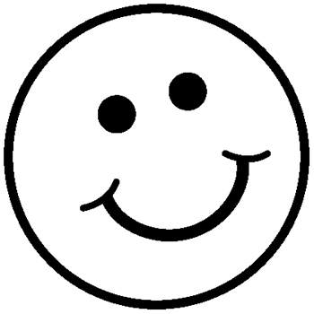 smiley face images black and  - Smiley Face Clipart Black And White
