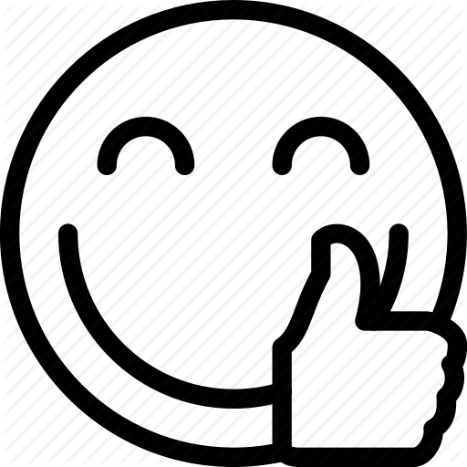 Smiley face thumbs up clipart - Smiley Face Clipart Black And White