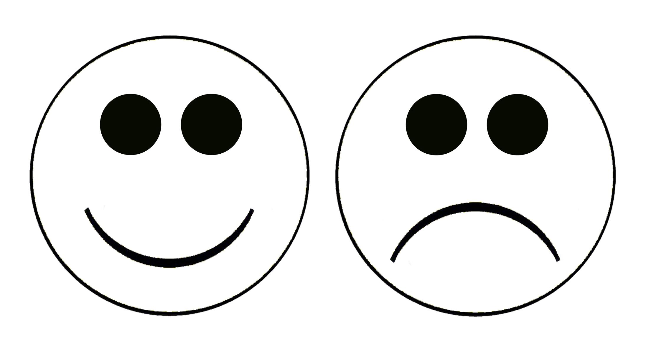 Smiley face sad face clipart