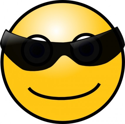 Smiley Face With Glasses clip art Vector clip art - Free vector