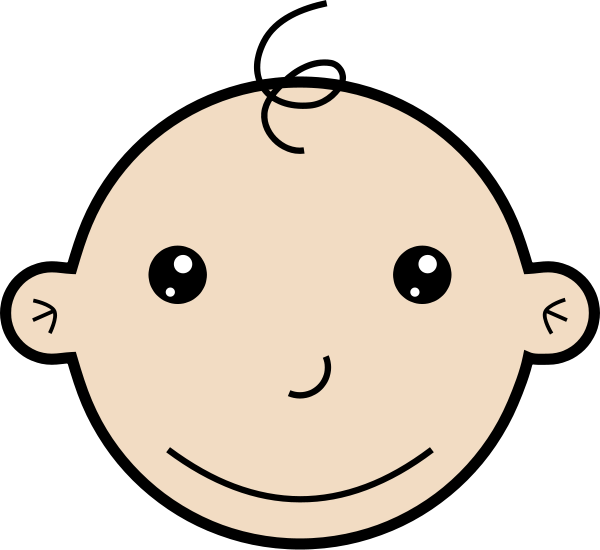 Smiling baby Clipart, vector clip art online, royalty free design