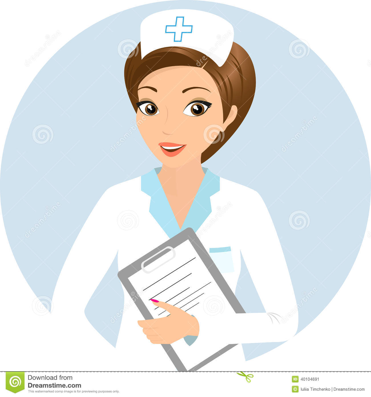 Smiling Nurse Clipart #1